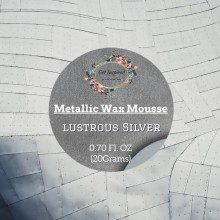 Lustrous Silver Metallic Wax 20grams Tin By Get Inspired