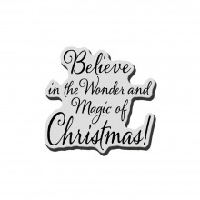 "Cling Stamp Believe Christmas Stampendous 3.5""X4"""