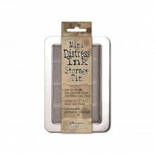 Tim Holtz Mini Distress Ink Storage Tin Holds 12
