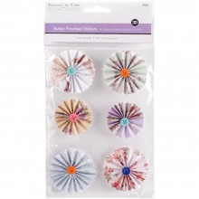 Pinwheel Stickers 3D Button Delicate MultiCraft Handmade
