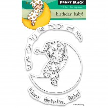 "Birthday, Baby! Penny Black Clear Stamps 3""X4"""