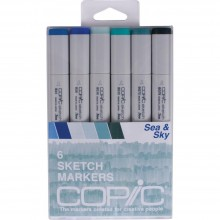 Copic Sketch Markers 6/Pkg - Sea & Sky