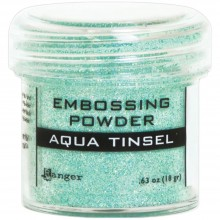 Aqua Tinsel Ranger Embossing Powder