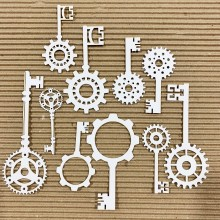 "Cogs & Gears Key Set 1 Chippies By Get Inspired - 9""x 6"" Pack Size"