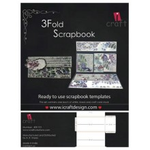 3 Fold Scrapbook Template By Icraft