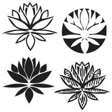 "Stencil Crafter's Workshop Template 6""X6"" -  LOTUS BLOSSOM"