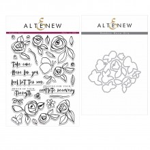 Altenew Bamboo Rose Stamp & Die Bundle - 41 Pieces