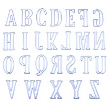 26pcs/Set 5CM Large Big Alphabet Letters Metal Cutting Dies By Get Inspired