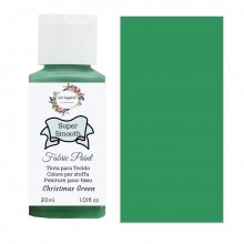 Super Smooth Fabric Paint- Christmas Green 30ml