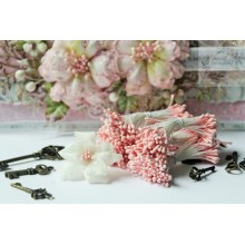 Matte Baby Pink 2mm Head Size Flower making Stamens Stiff Thread Pollens