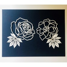 Enormous Roses Chippies By Get Inspired - 15cms x 21cms