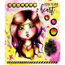 "LDRS Listen To Your Heart Stamp Set 8""x10"""