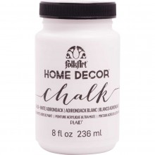 FolkArt Home Decor Chalk Acrylic Paint, 8oz White Adirondack