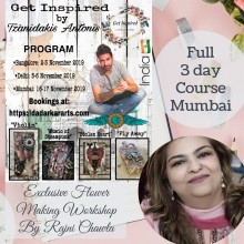 Mumbai Full Course Get Inspired Workshop By Rajni Chawla & Tzanidakis Antonis