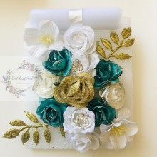 Aquamarine Bloom Flower Cluster by Get Inspired with Princess White Tulle Net Roll