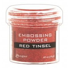 Embossing Powder Tinsel Red By Ranger