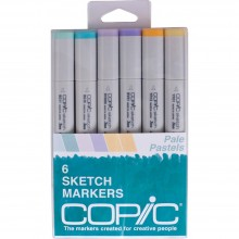 Copic Sketch Markers 6/Pkg - Pale Pastels