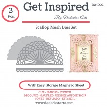 Scallop Mesh Dies Set - Set of 3 Dies
