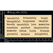 "Wordplay Beautiful 6""x3"" Chipboards"