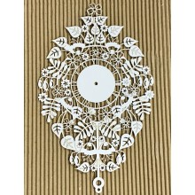"French Roman Floral Clock Panel Chippies By Get Inspired - 11""x 7"""