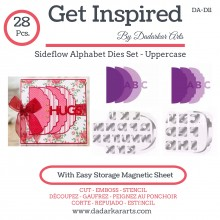Sideflow Alphabet Dies Set - Uppercase set of 28 Dies
