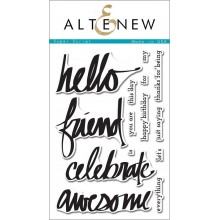 Altenew Super Script Stamp & Die Bundle - 18 Pieces