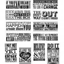 "Cling Stamps 7""X8.5"" Mini Motivation-Tim Holtz"