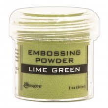 Embossing Powder Lime Green By Ranger