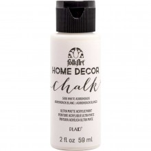 FolkArt Home Decor Chalk Acrylic Paint, 2 oz White Adirondack