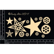Industrial Star Dusty Attic Chipboard Set 6inchx4inch