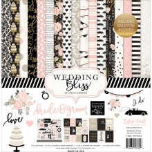 "Wedding Bliss Echo Park Collection Kit 12""X12"" with Stickers Sheet"