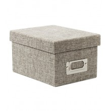2 Box - Gray Burlap Fabric Storage Box Pack of 2 Boxes By American Crafts