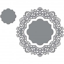 "Dies Magnolia Doily 3.4""X3.6"" By Couture Creations"