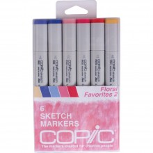 Copic Sketch Markers 6/Pkg - Floral Favorites 2
