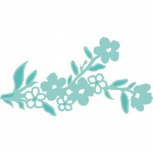 "Floral Branch 3.5""X1.75"" Kaisercraft Decorative Die"