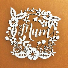 Mum Floral Intricate Chippies By Get Inspired - 11cms x 11cms