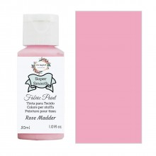 Super Smooth Fabric Paint- Rose Madder 30ml