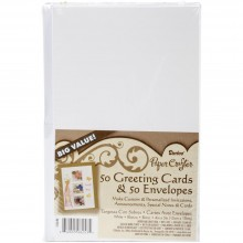 "Heavyweight White A2 Cards With Envelopes (4.375""X5.75"") 50/Pkg"