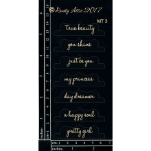 "Mini Tabs Be You! BLACK 6""x3"" Chipboards"