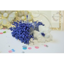 Matte Royal Blue 2mm Head Size Flower making Stamens Stiff Thread Pollens