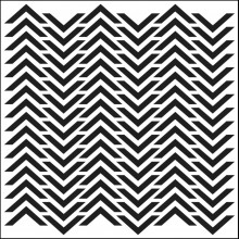 "Stencil Crafter's Workshop Template 6""X6"" -  CHEVRON"