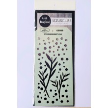 "Dew Morning Designer Reusable Stencil 8""x 4"" By Get Inspired - GIDS008"