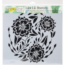 "Stencil 12""X12"" Crafter's Workshop Template - Flower Dancer"