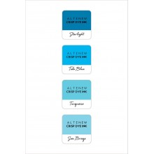 InkPads Deep Blue Seas Mini Cube Pack of 4 Set