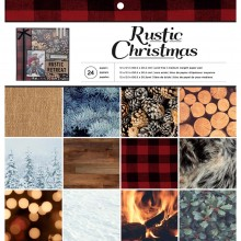 Paper Pad Rustic Christmas Single-Sided by American Crafts 24/Pkg