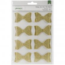 Glitter Bows 8/Pkg Holiday Details By American Crafts
