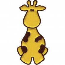 Iron-On Applique Yellow & Brown Giraffe Wrights Especially Baby