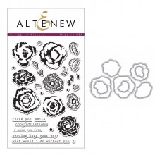 Altenew Scribbled Flowers Stamp & Die Bundle - 37 Pieces