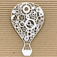 "Cogs & Gears Hot Air Balloon Chippies By Get Inspired - 6""x4"""