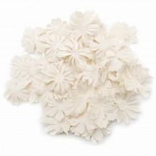 "White Wildflower Pillar Pack Paper Petals .5"" - 2.5"" 1.2oz"